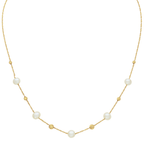 5-6.5mm Cultured Freshwater Pearl Necklace (16 in)