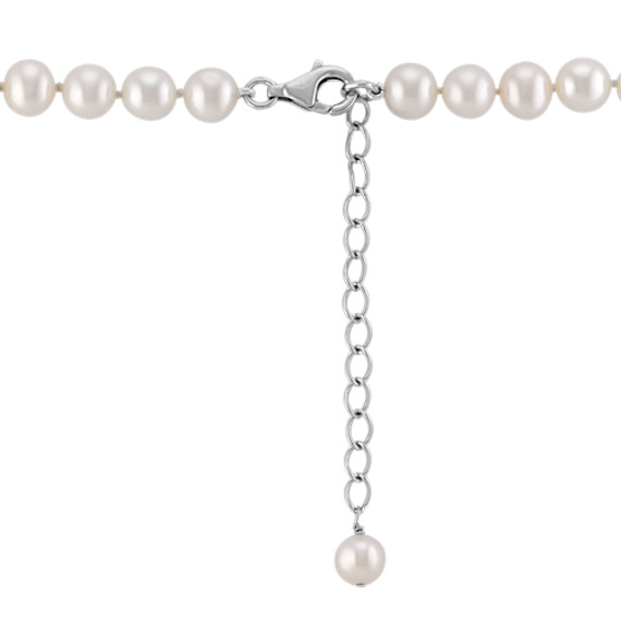 f290be6907b6b 6.5mm Cultured Freshwater Pearl Necklace and Earrings Set (24 in)
