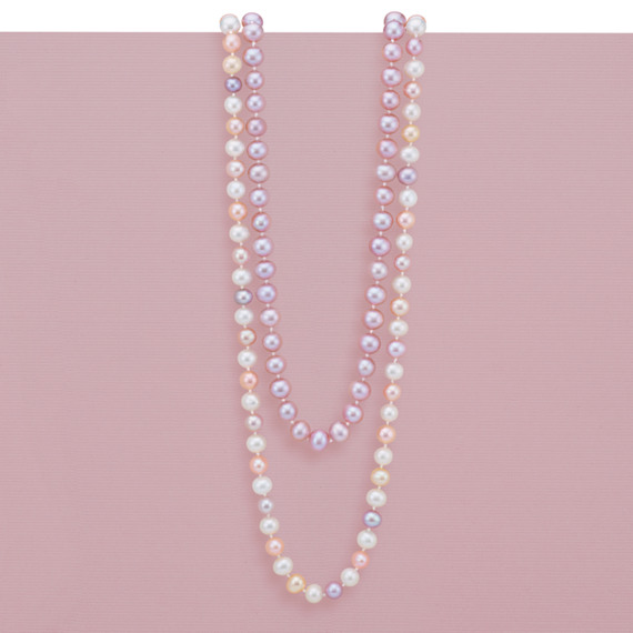 6mm Multi-Colored Cultured Freshwater Pearl Strand (65 in) image
