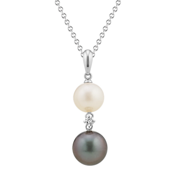 8-10mm Freshwater and Tahitian Pearl Pendant