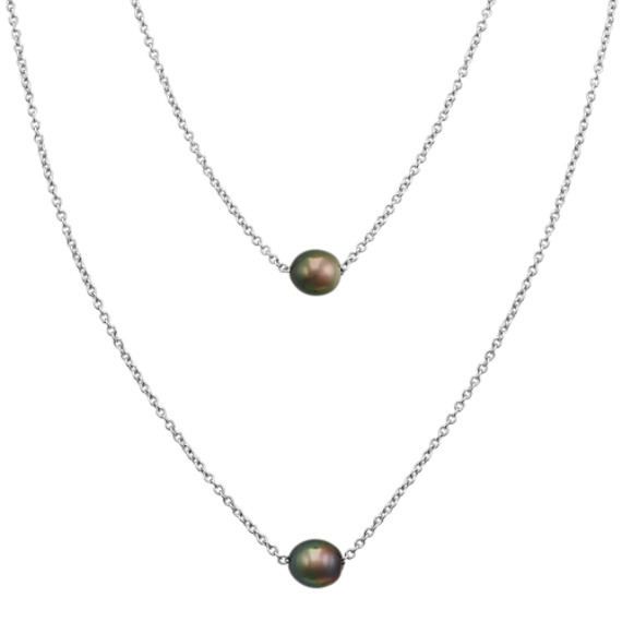 9-10mm Cultured Tahitian Pearl Necklace (28 in)