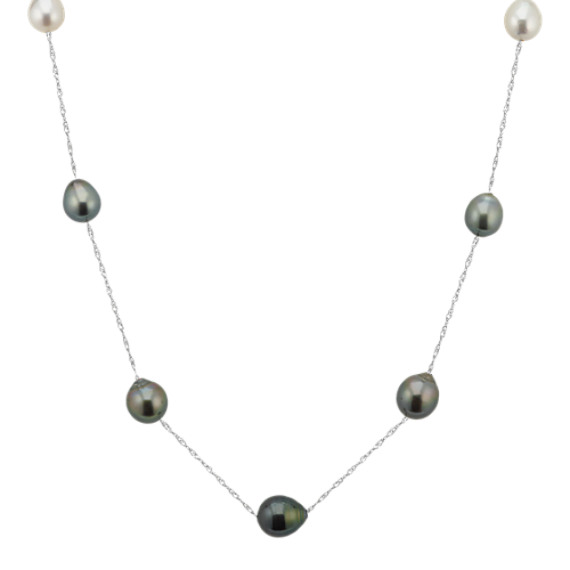 9-11mm Cultured Tahitian and South Sea Pearl Necklace (24 in)