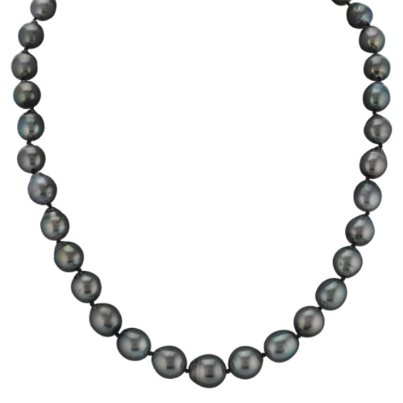 9-11mm Graduated Cultured Tahitian Pearl Strand (18 in)