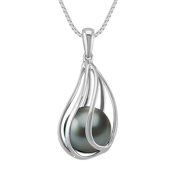 9mm Cultured Tahitian Pearl Pendant (18 in)