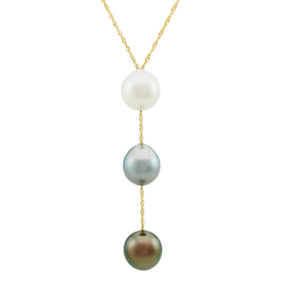 9mm South Sea and Tahitian Pearl Pendant (20 in)