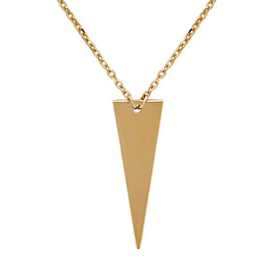 Abstract Triangle Necklace in 14k Yellow Gold (20 in)