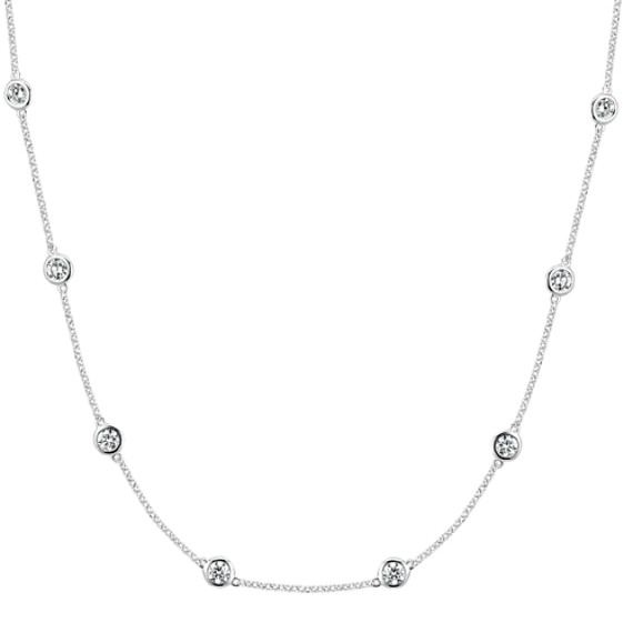 Bezel-Set Diamond Necklace (24 in.)