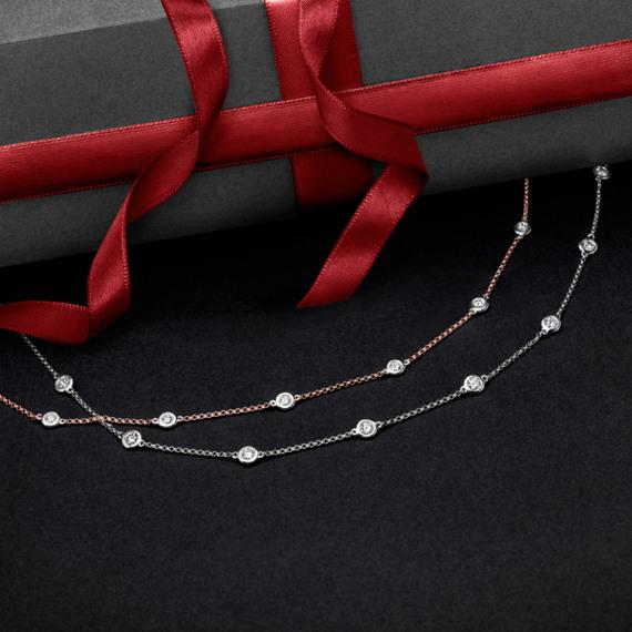 Bezel-Set Diamond Necklace (24 in.) image