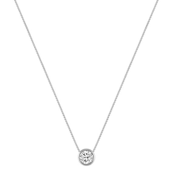 Bezel-Set Diamond Pendant (20 in) image