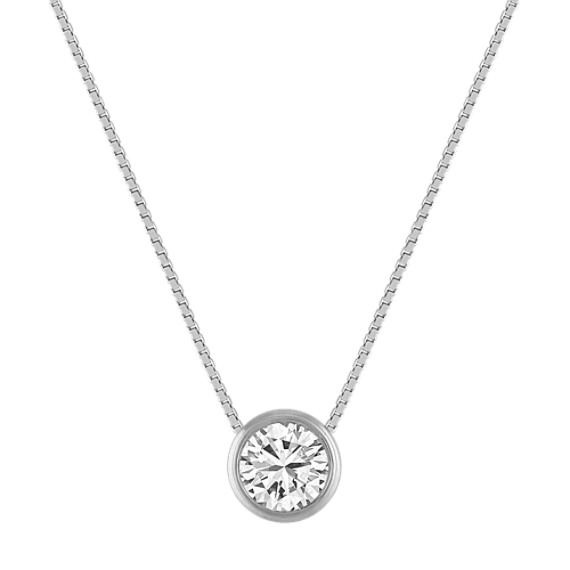 Bezel-Set Diamond Pendant (20 in)