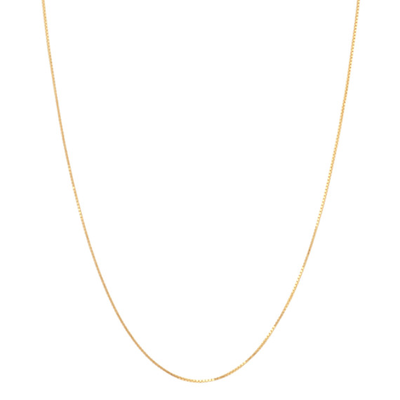 Box Chain in 14k Yellow Gold (24 in)