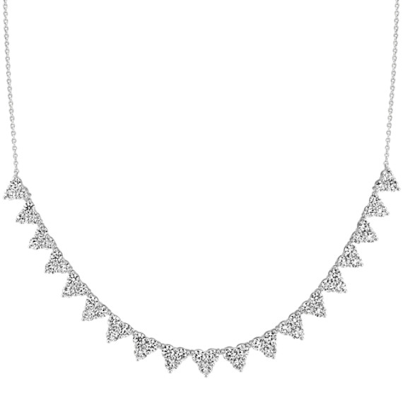 Brilliant Round Diamond Necklaces (18 in)
