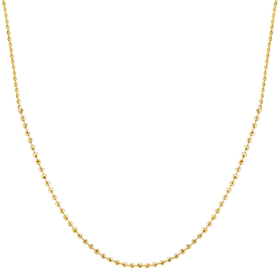 Choker Necklace in 14k Yellow Gold (16 in)