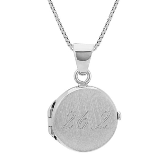 Circle Locket in 14k White Gold (18 in)