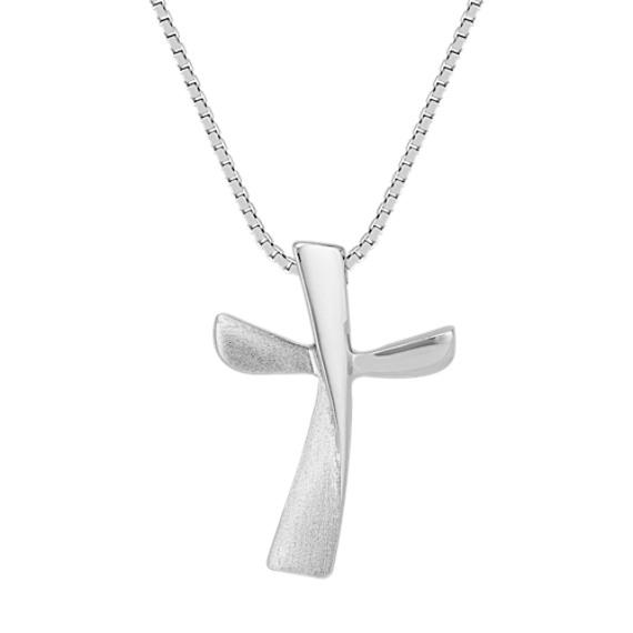 Contemporary Cross Pendant (18 in)