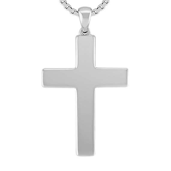 Cross Necklace in Sterling Silver (20 in)