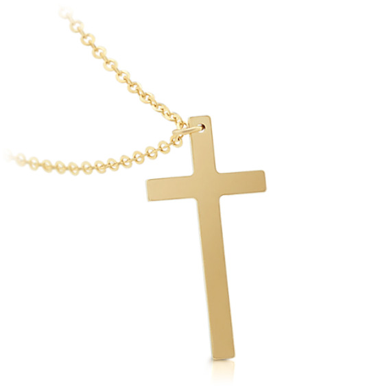 Cross Pendant in 14k Yellow Gold (18 in) image