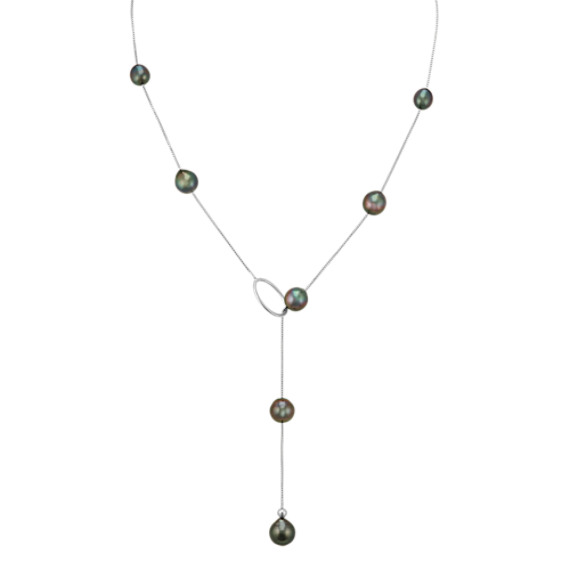 Cultured Tahitian Pearl Lariat Necklace (24 in)