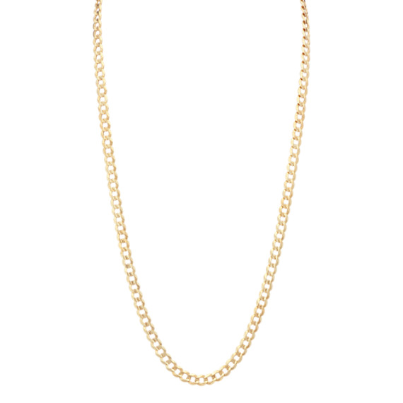 Curb Necklace in 14k Yellow Gold (24 in)