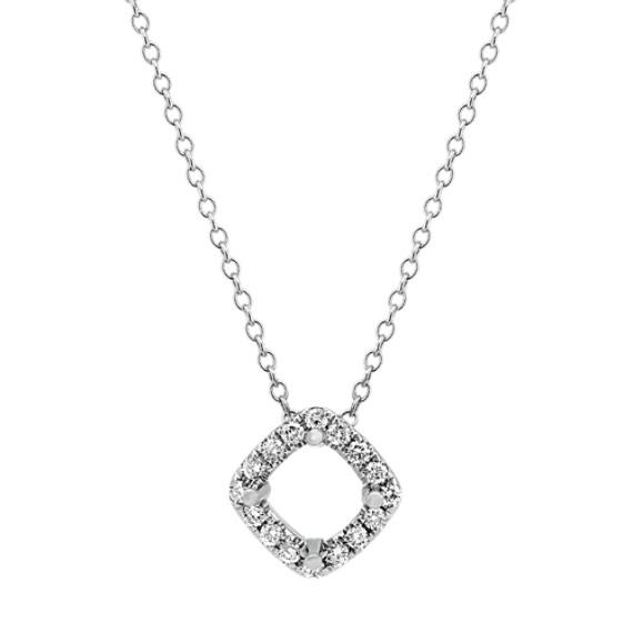 Cushion Shaped Diamond Pendant (22 in)
