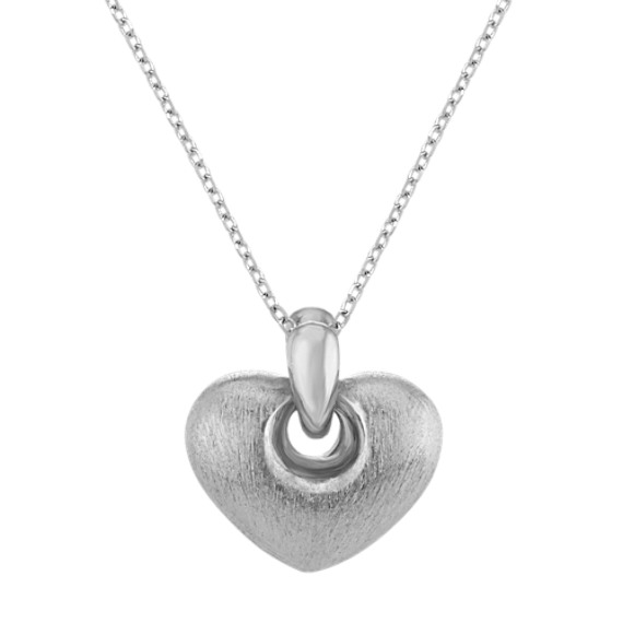 Cutout Heart Pendant in Sterling Silver (18 in)