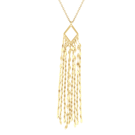 Dangle Tassel Pendant in 14k Yellow Gold (18 in)
