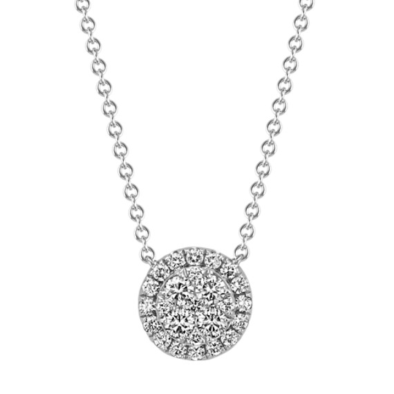 Diamond Cluster Necklace (18 in.)