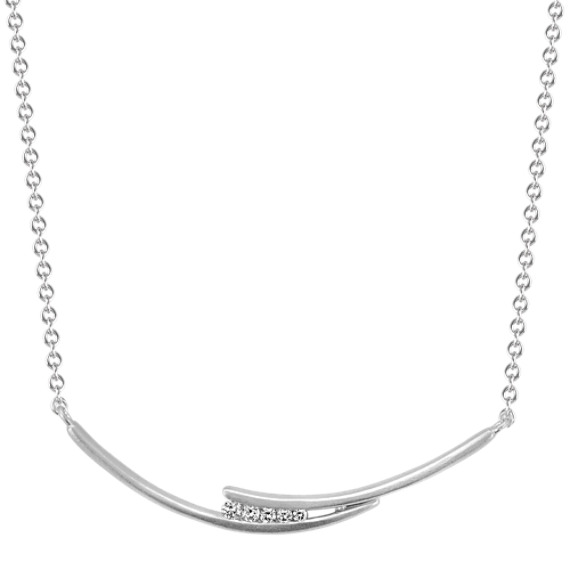 Diamond Crescent Necklace (18 in)