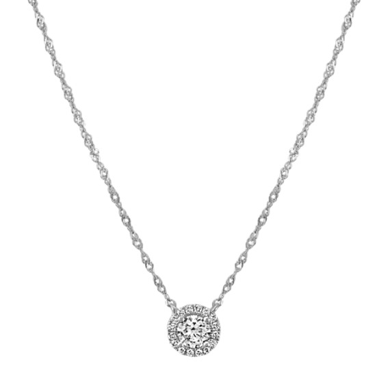 Diamond Halo Necklace (18 in)