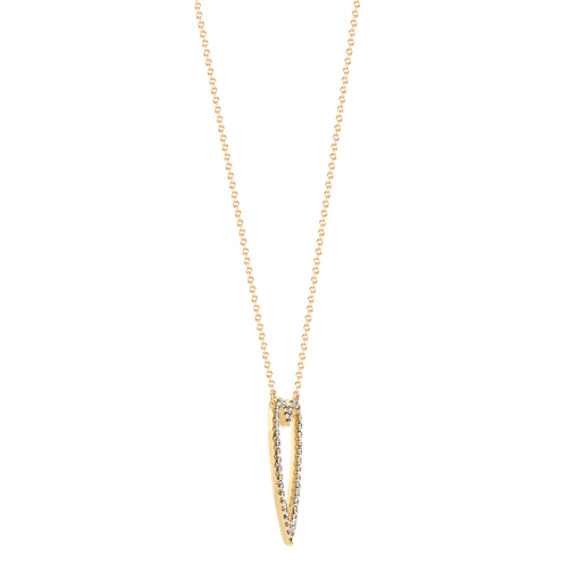Diamond Heart Necklace in 14k Yellow Gold (18 in.) image