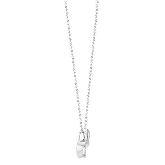 Diamond Heart Necklace in Sterling Silver (20 in.) image