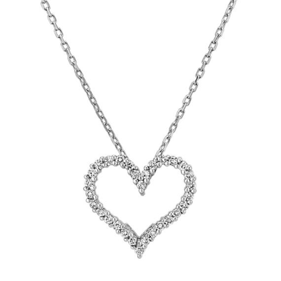 Diamond Heart Pendant (18 in)
