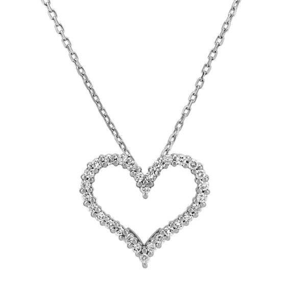 Diamond Heart Pendant (18 in)