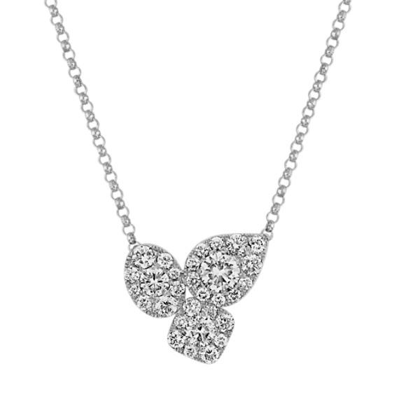 Diamond Necklace in 14k White Gold (18 in.)