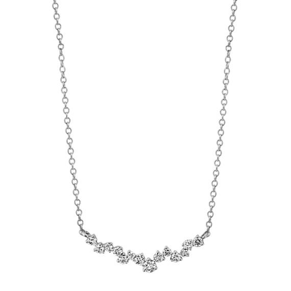 Diamond Necklace in 14k White Gold (18 in)