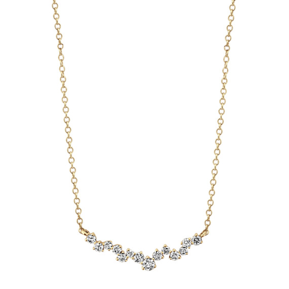 Diamond Necklace in 14k Yellow Gold (18 in)