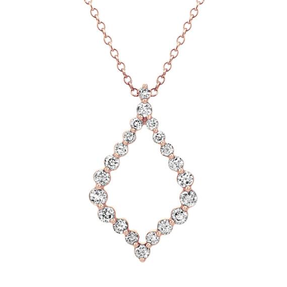 Diamond Pendant in 14k Rose Gold (22 in)