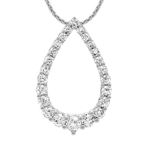 Diamond Pendant in 14k White Gold (22 in)