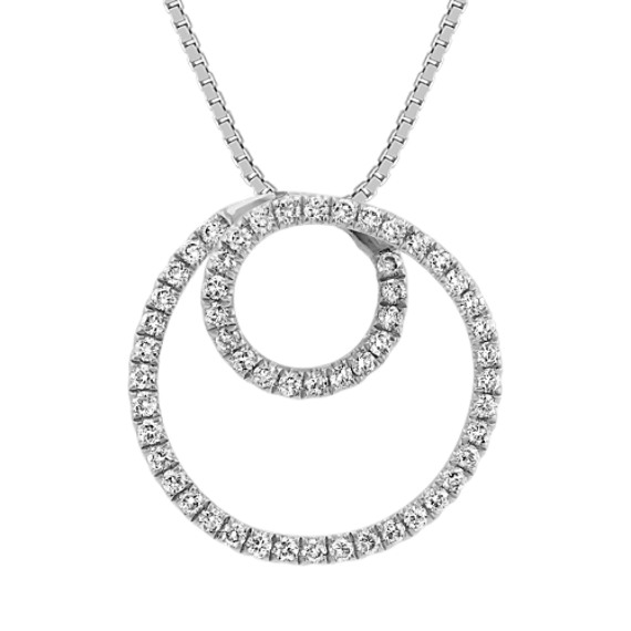 Diamond Spiral Pendant (18 in)