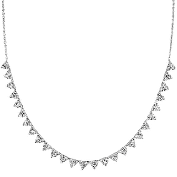 Diamond Statement Necklace in 14k White Gold (18 in)