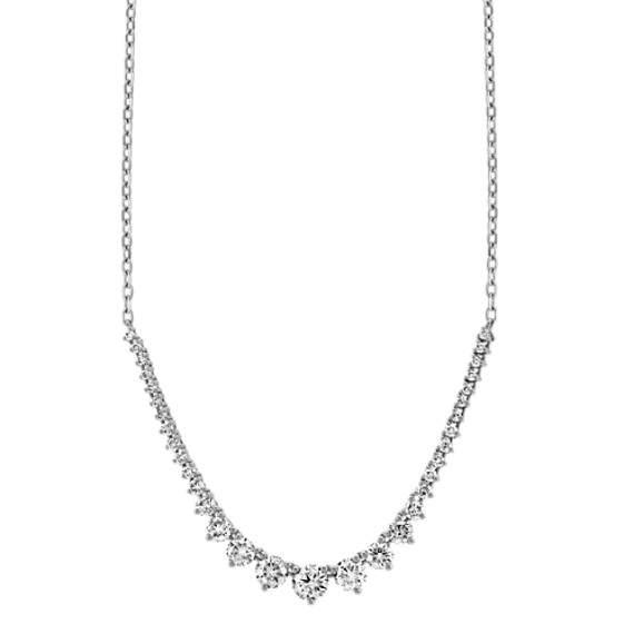 Diamond Tennis Necklace in 14k White Gold (18 in)