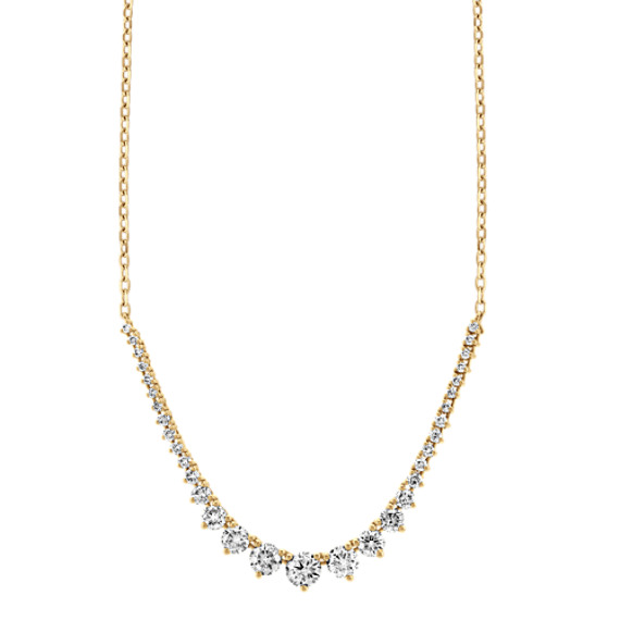 Diamond Tennis Necklace in 14k Yellow Gold (18 in)