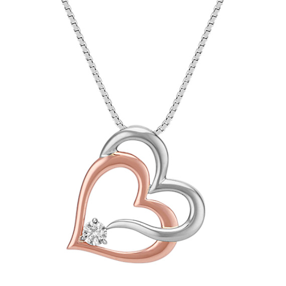 products home necklace heart silver bella international sterling pendant sliver double