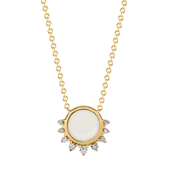 Eclipse Enamel and Diamond Necklace (18 in)