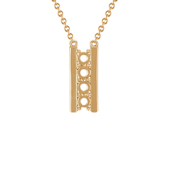 Family Collection Double Bar Pendant