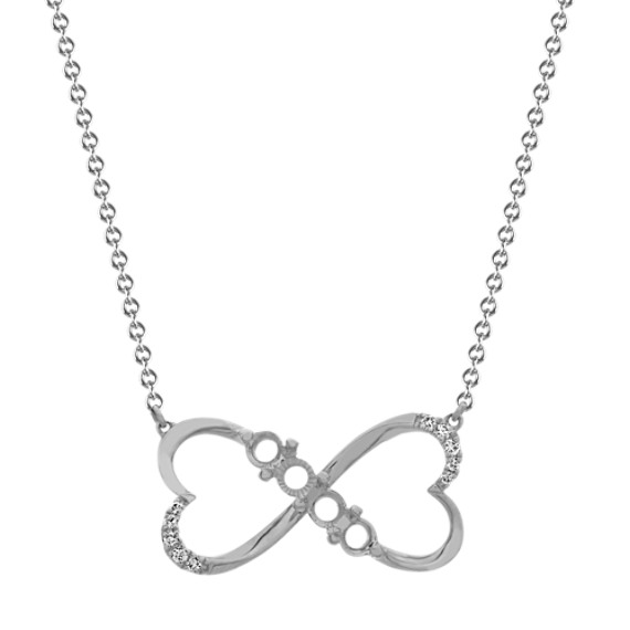 Family Collection Infinity Heart Necklace (18 in)