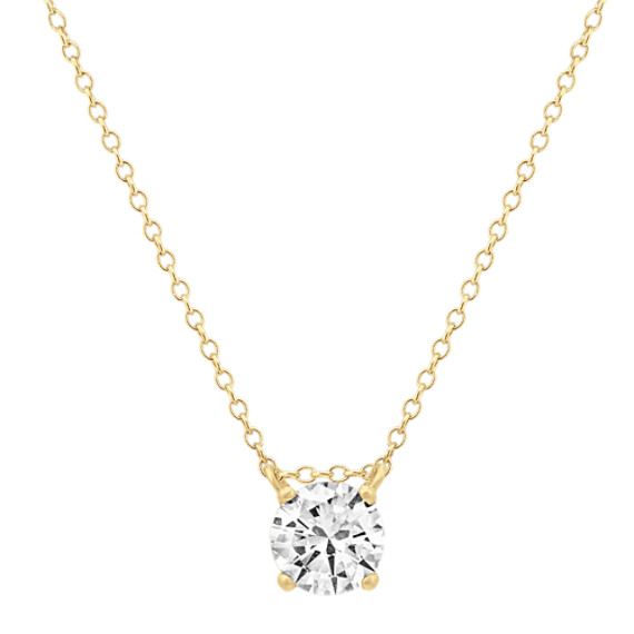 Floating 1ct Diamond Solitaire Pendant (18 in)