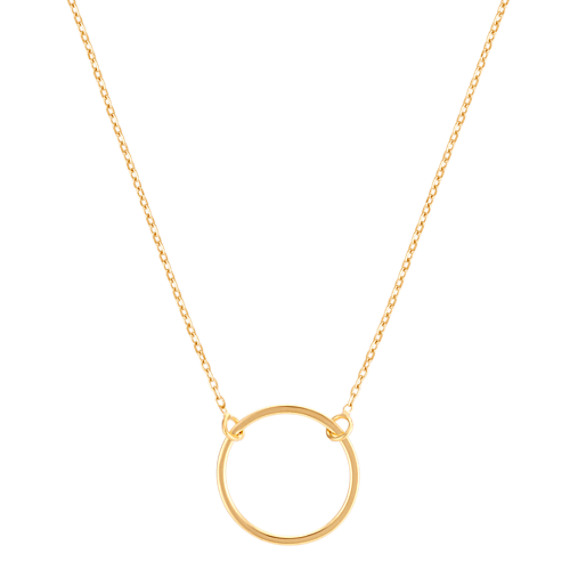 Full Circle 14k Yellow Gold Necklace (16 in)