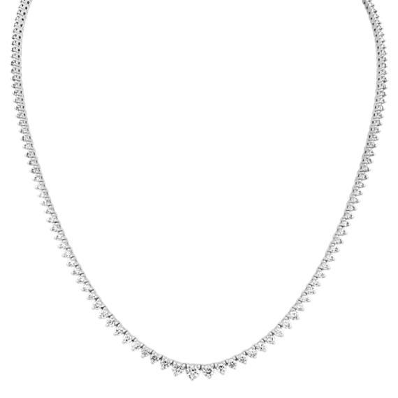 Graduated Diamond Tennis Necklace (16 in)