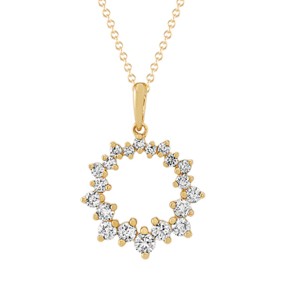 Graduated Round Diamond Pendant (22 in)